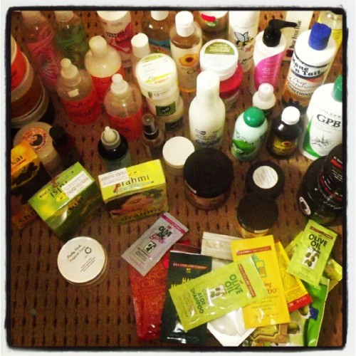 I'm a product junkie #teamnatural #naturalhair (Taken with instagram)