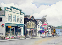 """Bar Harbor Main Street"" by Sue Lynn Cotton"