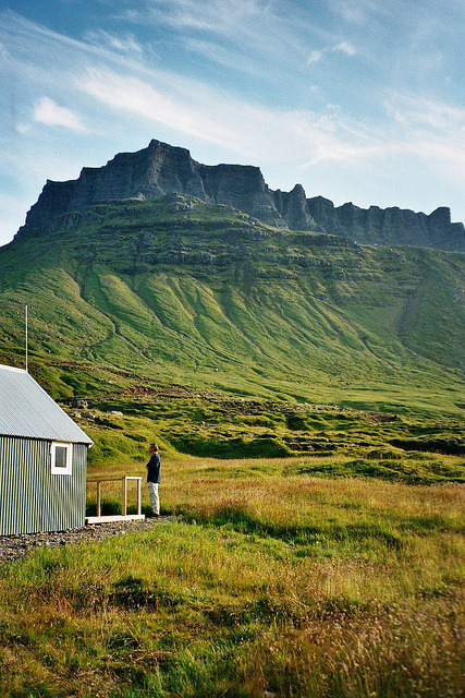 ourwildways:  Húsavík cabin by Jos Mecklenfeld on Flickr. iceland!