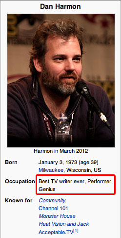 havingchanged:  Wikipedia knows what's up
