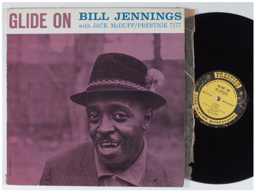 "Bill Jennings with Jack McDuff ""Glide On"" LP - Prestige Records, US (1960.)"