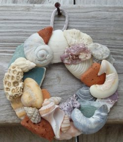 Shell Wreath by Mad Mary Creations on Etsy