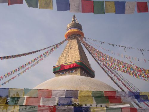 Boudanath stupa…prayer flags…kathmandu, Nepal Source: Zacapatista (2010)