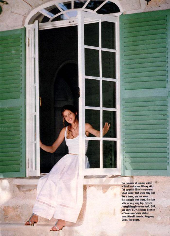 "80s-90s-supermodels:  ""For Summer"", Seventeen US, March 1995Model: Laetitia Casta ( Source: Imc Magazine )"