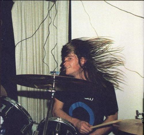 nirvananews:  Chad Channing, dorm party at The Evergreen State College, 1988.