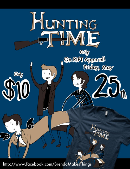 "dont-call-me-shurley:  brenda-makes-things:  ""Hunting Time"" is going on sale this Friday at RIPT Apparel, for only 24 Hours!  Can't wait?  You can purchase it on my redbubble here.  http://www.redbubble.com/people/snellby/works/8858252-hunting-time  it's live!  :D"