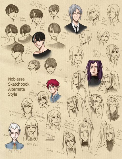 ileranerak:  Noblesse alternate style. Also can be found on my DA, here. .05 Mechanical pen.+ SAI + Photoshop.