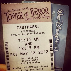 brittbluntstern:  #towerofterror #fastpass #disneyworld  (Taken with instagram)