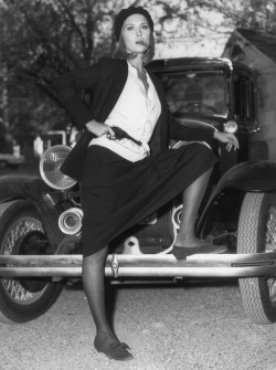 "Faye Dunaway from the movie ""Bonnie and Clyde"", directed by Athur Penn USA, 1967."