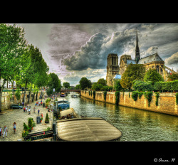 Paris - Notre-Dame de Paris - View with Seine :: HDR by Omar.H Photography on Flickr.