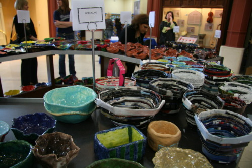 Some of the amazing, artistic bowls created for the AANM's Empty Bowls event. The Arab American National Museum held a fundraiser for the Gleaners Community Food Bank of Southeastern Michigan on May 18, 2012. Art students from Dearborn Public Schools created special bowls that were given to all who participated in the fundraiser.Pictures from the event can be found on the AANM's Flickr account.