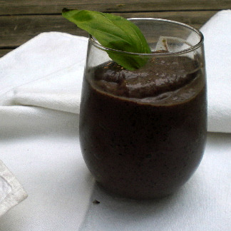 Blueberry Basil Smoothie
