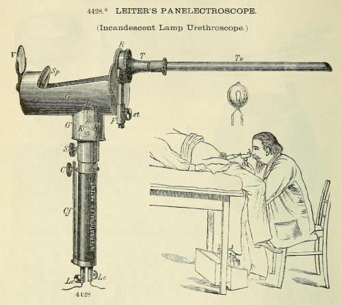 mudwerks:  elettrogenica:  Leiter's Panelectroscope (Incandescent Lamp Urethroscope) : flickr.com/photos/biomedical_scraps  ow…