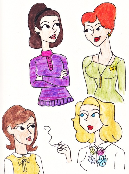 The Ladies of Mad Men: Megan, Joan Harris, Peggy and Betty