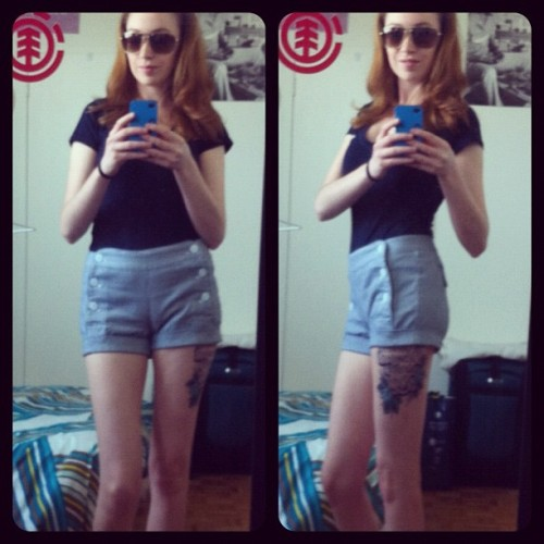 First time wearing shorts of the summer! #weather #hot #selfie #selfportrait #summer #Toronto #shorts #happy #igers #igcanada #ignation #tattoo (Taken with instagram)