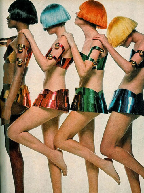 Andre Courreges fashion photographed by Bert Stern