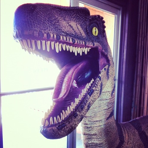 World's happiest dinosaur. (Taken with Instagram at South Of The Border)