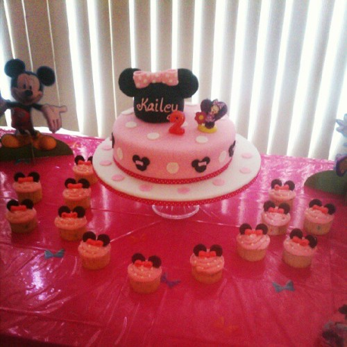 Kailey's #Disney themed #birthday #cake and #cupcakes  (Taken with instagram)