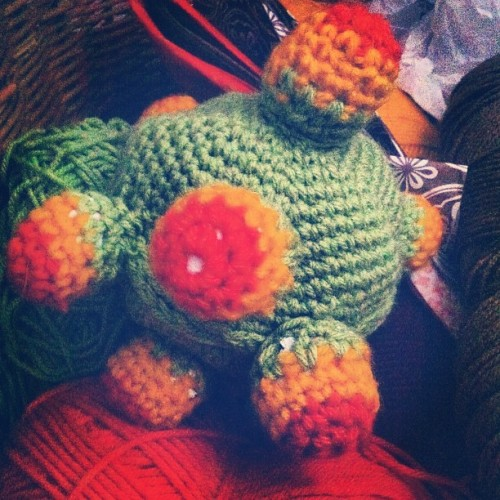 Day 138: Remember that katamari I was crocheting…me either. #mayphotoaday #photoaday #365 #day138 #2012 #somethingyoumade #crochet  (Taken with instagram)