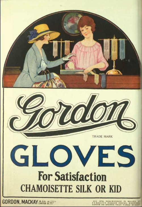 questionableadvice:  ~ Gordon Mackay & Co. Ltd, 1922