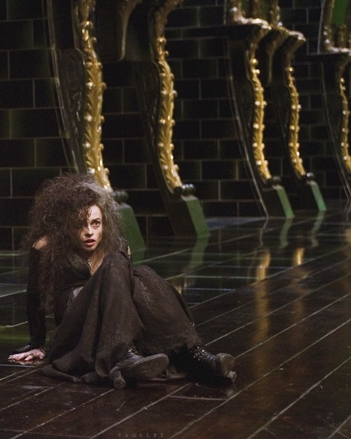 I'm not particularly masochistic… but I would let Bellatrix carve mudblood all over me before using me as her sex slave. Hermione is a whiney bitch and doesn't realise how many ladies [and, probably, men] that would have happily taken her place.