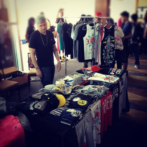 Come get your @youngwhales gear today @ the #dunkxchange2012 (Taken with instagram)