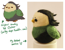 biohazard-cat:  Finally done - the LOKI-BIRD (based on Oskar's hilarious + adorable drawings of the Avengers: http://milky-days.tumblr.com/post/22669162100/okay-so-i-know-i-said-i-was-gonna-write-an )