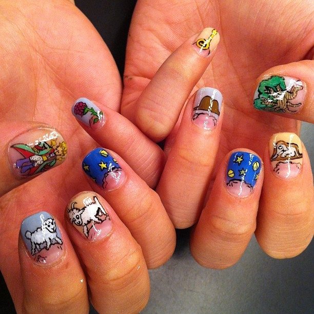 naominailsnyc:  The little prince #nailart #nail  (Taken with instagram)
