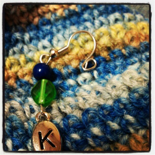 Stitch marker by Drew Emborsky, The Crochet Dude, on a sock I'm about to frog because it's too big (Taken with instagram)