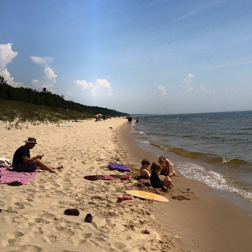 South breeze & 75 degrees. Pretty perfect. #puremichigan  (Taken with Instagram at P.J. Hoffmaster State Park)