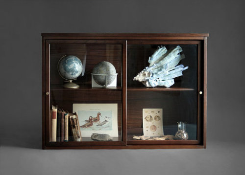 (via Vintage Glass Display Cabinet Wood Book Shelf Antique by Hindsvik)