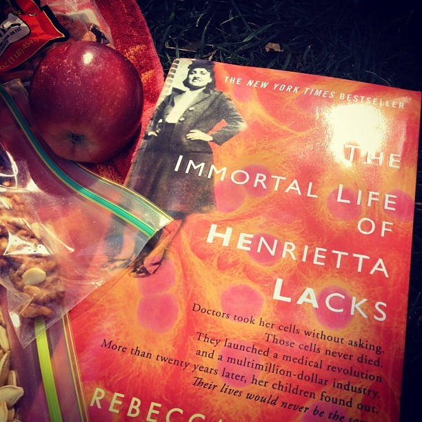 Very excited about book club picnic discussion of this. #HenriettaLacks (Taken with instagram)