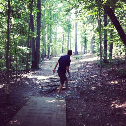 Beautiful day for disc golf. (Taken with Instagram at Sequyoah Park Disc Golf)