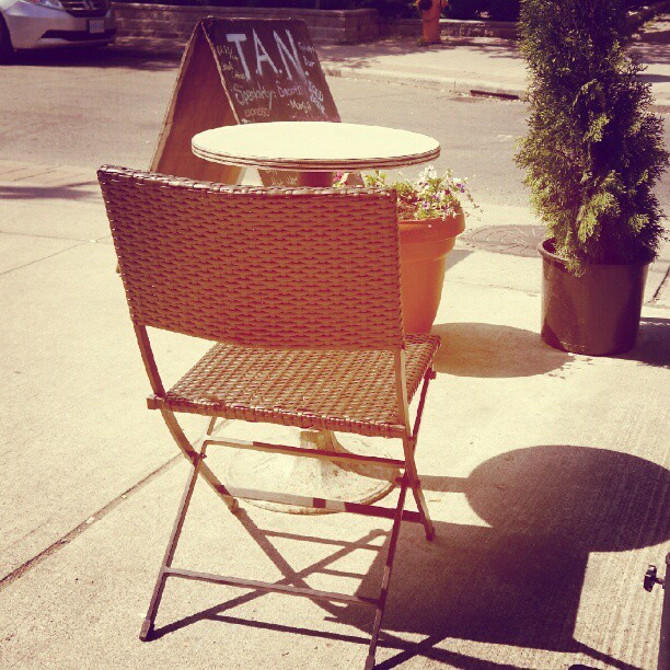 Yeah #toronto is toasting this #afternoon, #chair under #sunshine in #patio, its officially #summer. by @anbywarhal at instagram