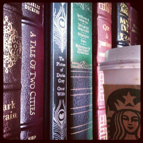 #photoadayMay Day 20: Something You Can't Live Without —- Books & Coffee. #books #coffee #starbucks #bookporn #reading #somethingyoucantlivewithout  (Taken with instagram)