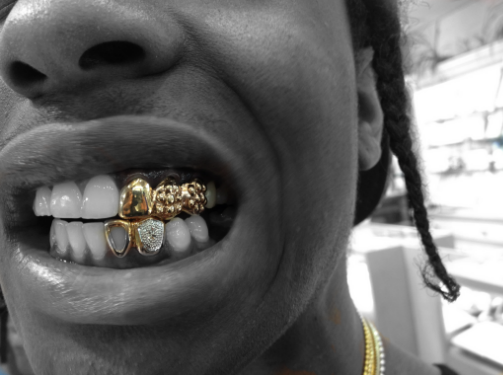 ASAP Rocky dope teeth!