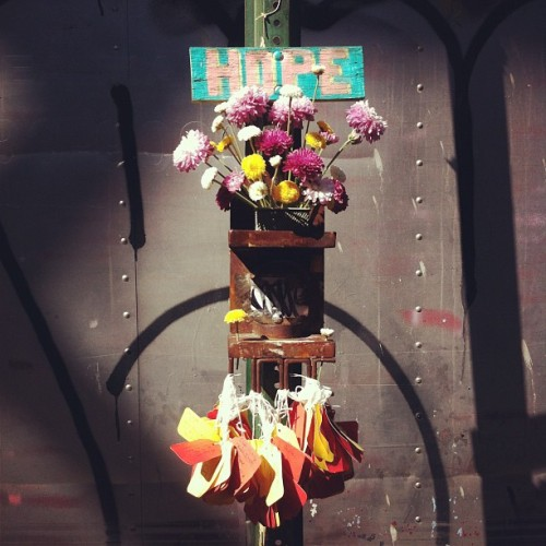 Hope (Taken with Instagram at High Line Park; via soupsoup)