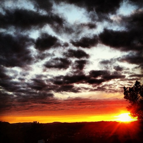 #beautifull #sunset in #bergen #norway #clouds #bønes #heaven #sun  (Taken with instagram)