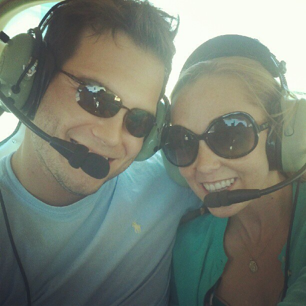 Flying to Port Aransas for a surprise birthday trip! (Taken with instagram)