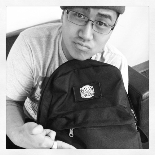 The good homie @jraquino sporting the Brand New @moswantedcrew Backpack available at www.worldofdance.com #worldofdance #moswantedcrew #mdubarmy #mdubgang (Taken with instagram)