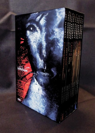 neil-gaiman:  The all-ten-volumes-in-one-slipcase-edition of SANDMAN comes out in November! I'm thrilled. You have no idea how long I've been asking DC to do one of these. (Er, about 16 years.) (Edit to add: lots of questions coming in. I believe it'll be about $199, so the books are cover price but the slipcase is free. Probably cheaper places that discount books. These are the recoloured editions that use the Absolute edition recolouring of the first few books. And last time DC did something like this they also sold the slipcase separately.)