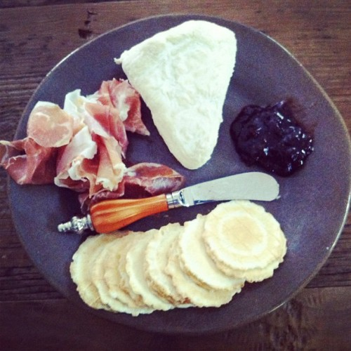 grownupwishes:  A nice afternoon spread with Nancy's Camembert. My hubby's favorite. (Taken with instagram)