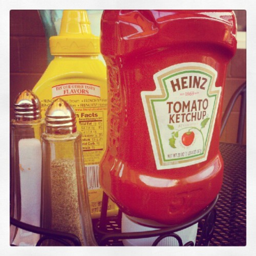Condiments, on toast.