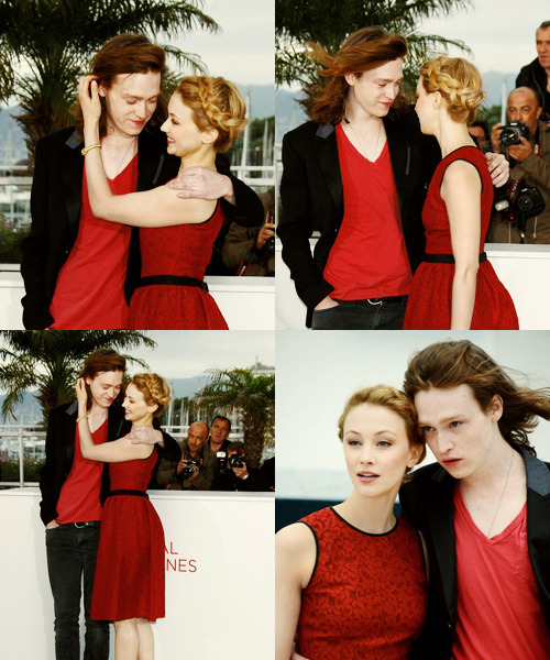 Sarah Gadon and Caleb Landry Jones at Cannes Film Festival 2012