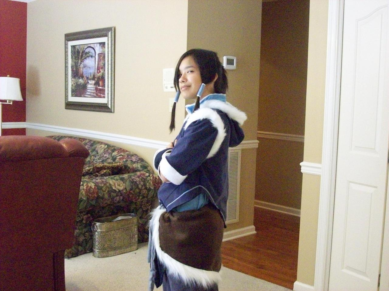 I'm finally satisfied with my Korra cosplay.  Complete with the winter jacket.