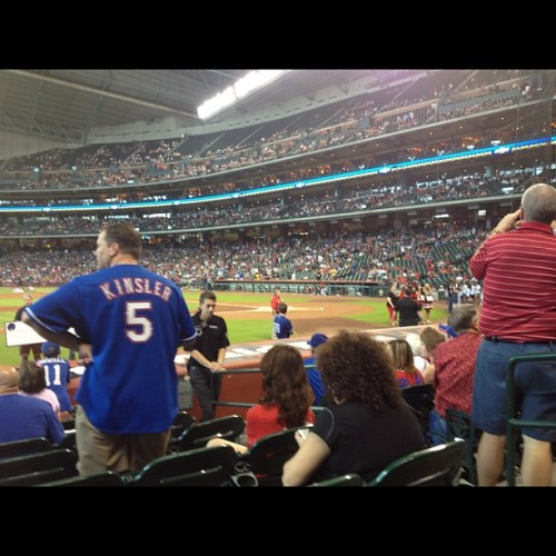 GREAT SEATS: To see the @rangers whoop the Astros with @devillednttweet and @sweetlucy06  #rangers #texas #mlb #interleague #silverboot  (Taken with instagram)