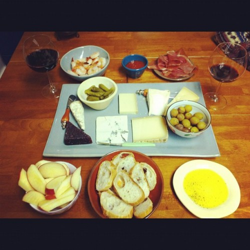 30th birthday spread from Antonelli's Cheese Shop: 30 goes down easier with cheese.  (Taken with instagram)