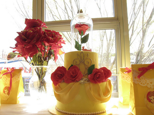 Beauty and the beast cake (by Playful Cake)