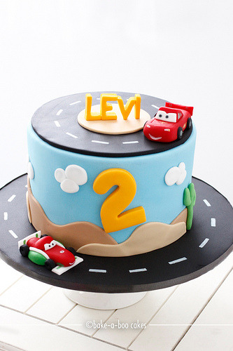 Boys favourite Disney Cars Cake! (by Bake-a-boo Cakes NZ)