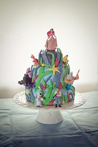 "Ariel ""Under the Sea"" Cake (by MakiB)"